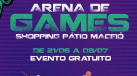 PÁTIO SHOPPING TEM ARENA GAMES DOS MAIS VARIADOS JOGOS