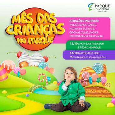 Feriadão das Crianças: Parque Shopping prepara programação intensa para garotada neste final de semana